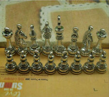A set of Antique silver copper lovely delicate international chess Charm Pendant