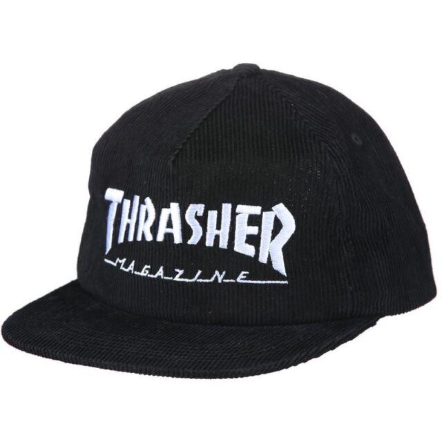 Thrasher Magazine Logo Corduroy Snapback Cap - Black for sale online ... 33a2e48260f