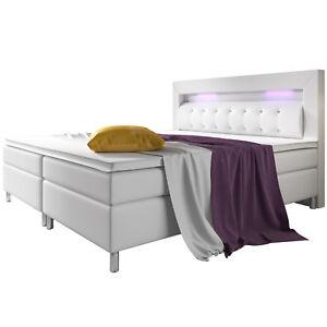 Boxspringbett-design-lit-a-l-039-hotel-LED-topper-ressorts-140-180-x-200-cm-cuir-pu