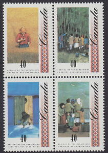 CANADA-1326-1329-40-Arrival-of-Ukrainians-Se-tenant-Block-MNH-A