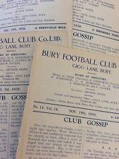 PRE War & Wartime Football Programmes EX BOUND VOLUME - NO COVERS