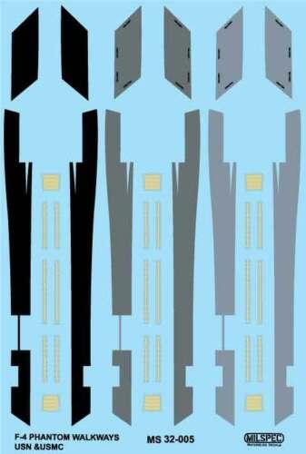 WALKWAYS /& FORMATION LIGHTS 1//32 MILSPEC DECAL SCALE F-4 PHANTOM MS 32-005