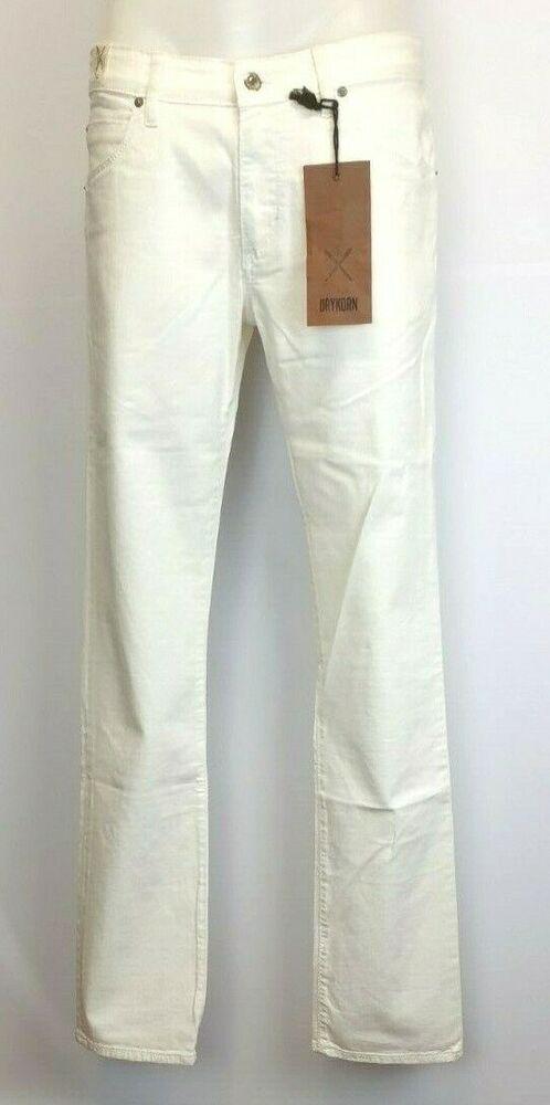 7) Luxe Createur Drykorn Jeans Taille W32 L34 L/xl Blanc Nouveau Prix Recommandé 139 €