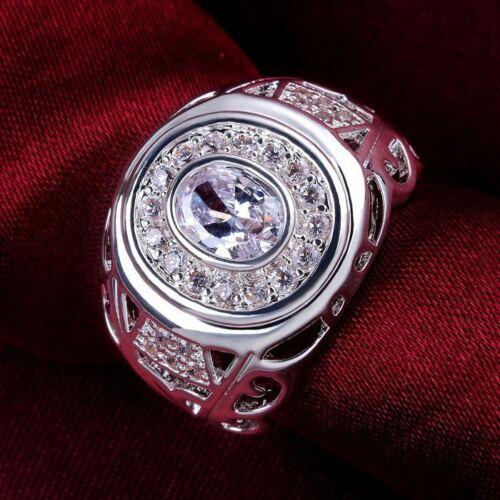 Argent Mariage zircon luxe fashion Austria Crystal Ring Bijoux Femme Mariage