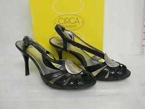 Circa Joan & David New Womens Leslee Black Slingback Heels 9 M Shoes
