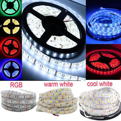 DC12V 1M 5M SMD 5050 RGB white Waterproof 300 LED Flexible Tape Strip Light