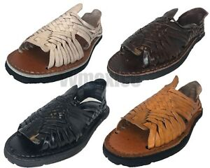 c15b62837b28 Image is loading MENS-LEATHER-MEXICAN-SANDALS-HUARACHE-WITH-TIRE-SOLE