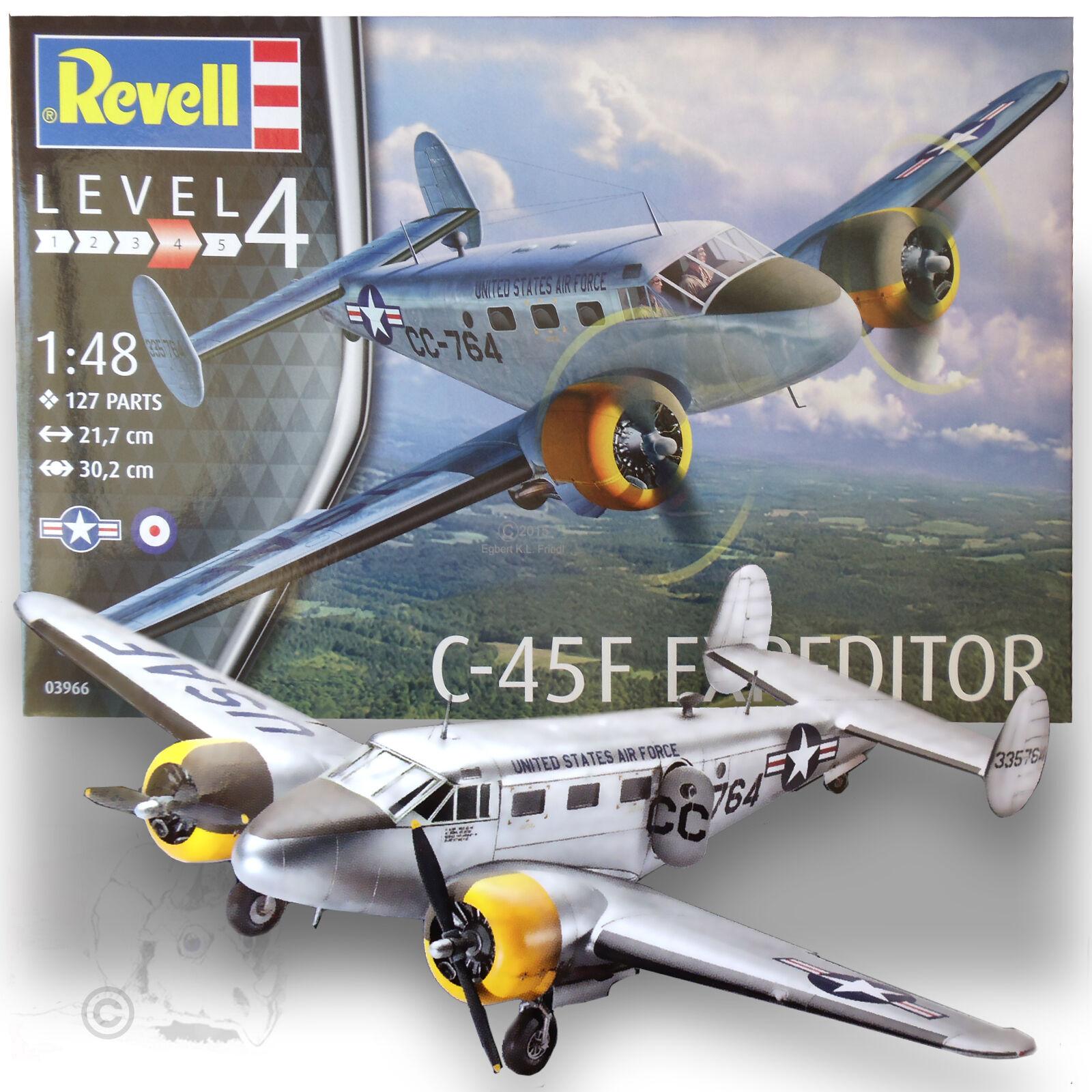 REVELL 1 48 BEACHCRAFT C-45F EXPEDITOR KIT 3966