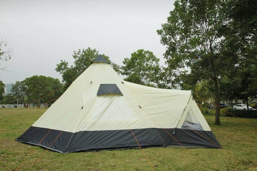 super cute 37380 58ecb Details about Tipi Tent 6M Zipped-in-Groundsheet Family Camping 12 Person  teepee 6 meter tent