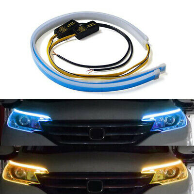 6 LED Sequential Car DRL Daytime Running Turn Signal Light Driving Lamp