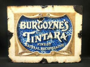 BURGOYNES TINARA ENAMEL SIGN PORCELAIN ADVERTISING ORIGINAL AUSTRALIAN WINES