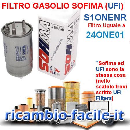 FILTRO GASOLIO S1ONENR 24ONE01 SOFIMA FIAT ALFA ROMEO LANCIA 77363657 60693681