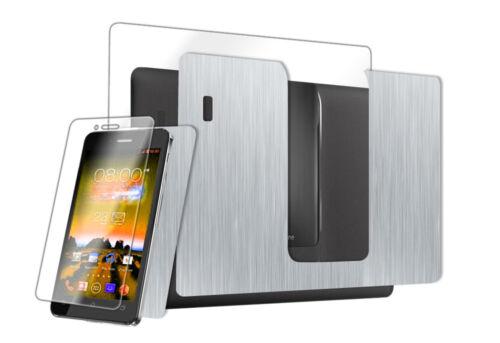 Skinomi Brushed Aluminum Skin+Screen Film for ASUS Padfone Infinity Phone+Tablet