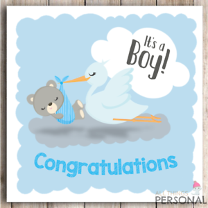 New Baby Boy Card Congratulations Parents It/'s a Boy Card New Arrival Birth
