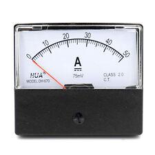 DH-670 Genauigkeit DC 50A Zifferblatt Analog Panel Meter Ammeter Amperemeter