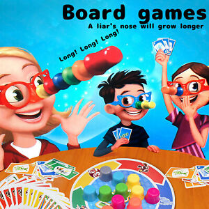 Family Fun Fibber Board Game Growing Nose Interesting Family Interactive Toys