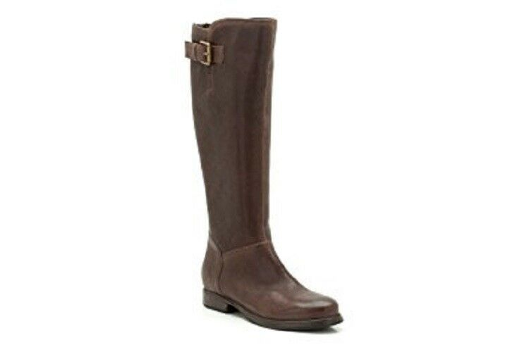 Clarks Dark Brown Leather Ladies knee riding Boots size 4 37 D RRP