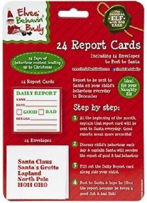 Elf Behavin Badly 24 Mini Report Cards Envelopes Children Christmas Xmas