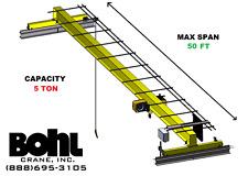 Rampm 5 Ton 50 Span Top Running Single Girder Overhead Bridge Crane Kit