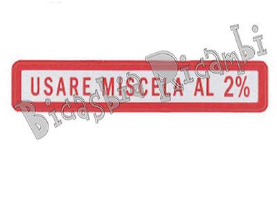 0646 ADESIVO ROSSO MISCELA 2% VESPA 125 ET3 PRIMAVERA SPRINT SUPER GT GTR GL