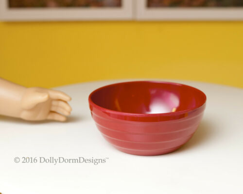 Red SERVING BOWL for American Girl Doll House Kitchen Bakery Sweet Shop