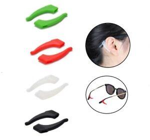 4 Pairs Anti Slip Glasses Ear Hooks Tip Eyeglasses Grip Holder Silicone Assorted