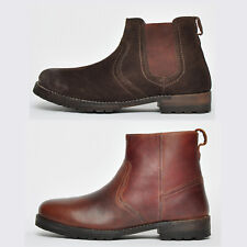 REAL LEATHER Red Tape Chelsea Biker Ankle Designer Boots FREE P&P