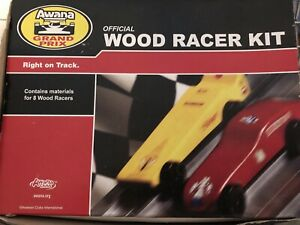 AWANA-Official-Grand-Prix-Car-Kit-10-WOOD-BLOCKS-Pinewood-Derby-Boy-Scouts-NEW