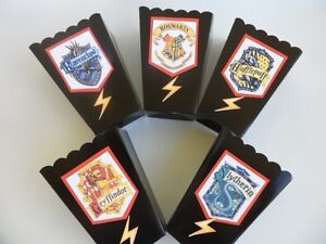 Harry Potter party favors popcorn boxes goodie bag SET OF 10 eBay
