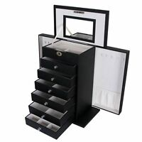 Songmics Jewellery Box Earrings Drawer Organiser For Girls 7 Layers Jbc06b