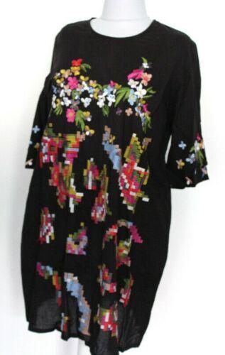 Alba Moda Kleid Halbarm schwarz aufwendig bestickt Cotton Gr 40 44 48 NEU HA120