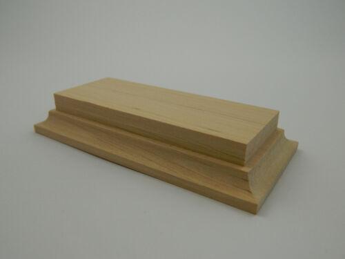 Wooden base in alder for mounted figure 54-60mm