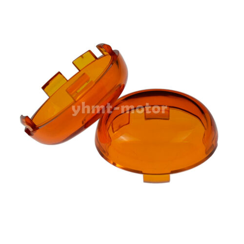 2x Turn Signals Light Amber Lens Cover Fit For 1986-2019 Dyna Softail XL FX