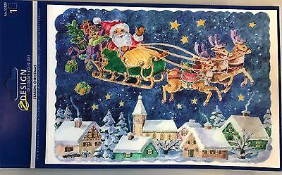 MagicGel Fensterbilder Weihnachten Nikolaus mit Geschenken 17 x 24cm Fensterdeko
