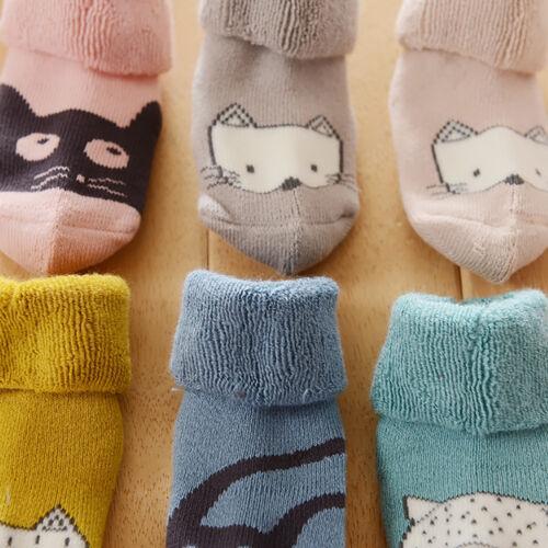 6Pair Baby Boy Girl Cotton Thicken Warm Children Floor Anti-Slip Baby Step Socks