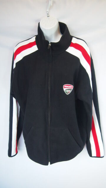 71bf8413e5ed Ducati Sweatshirt Large Black Red White L Track Jacket Zip Up Motorcycle  Corse