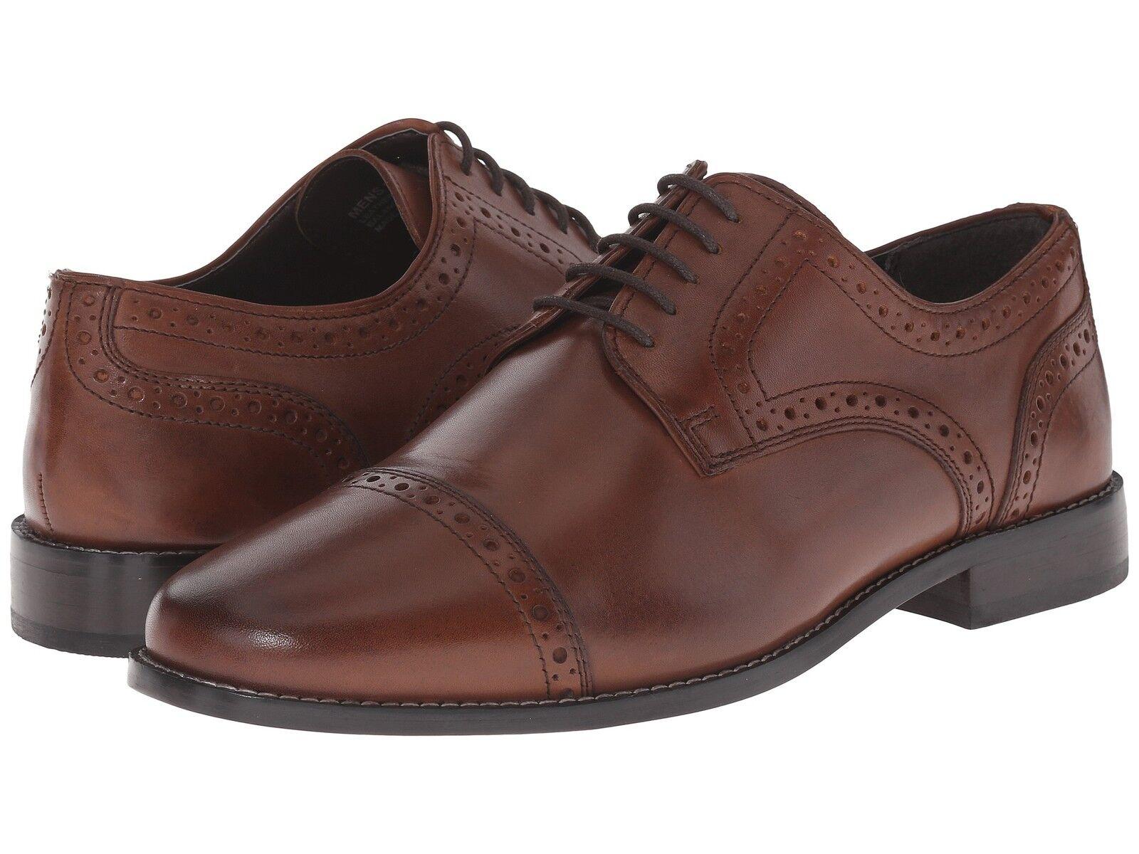 Nunn Bush Hombre Norcross Cap Toe Oxford Cuero Marrón Zapatos 84526-200