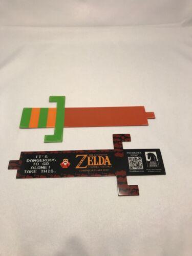 1 ZELDA HYRULE HISTORIA - Rare Promo Bookmark Laminated Ocarina Link Sword mark