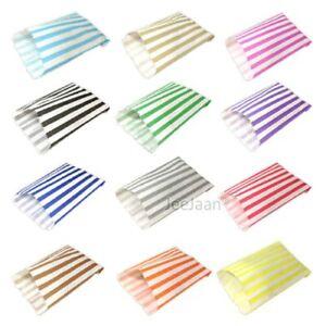 Candy-Stripe-bolsas-de-papel-dulce-favor-buffet-Tienda-De-Regalos-Fiesta-pequenas-medianas-grandes