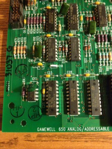 GAMEWELL 31037 G 650 ANALOG//ADDRESSABLE CARD FIRE ALARM