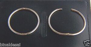 9ct-GOLD-Medium-Large-18mm-PLAIN-HINGED-HOOP-SLEEPER-EARRINGS-B-039-Day-GIFT-BOX-NEW