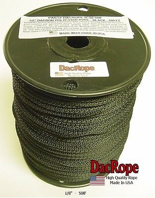 """500' 1/8"""" 100% Dacron Polyester Antenna Support Rope, Dipole & Wire Antennas"""