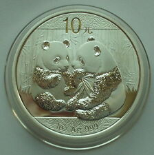 2009 China 10 Yuan 1 Oz .999 Silver Panda PROOF in Capsel