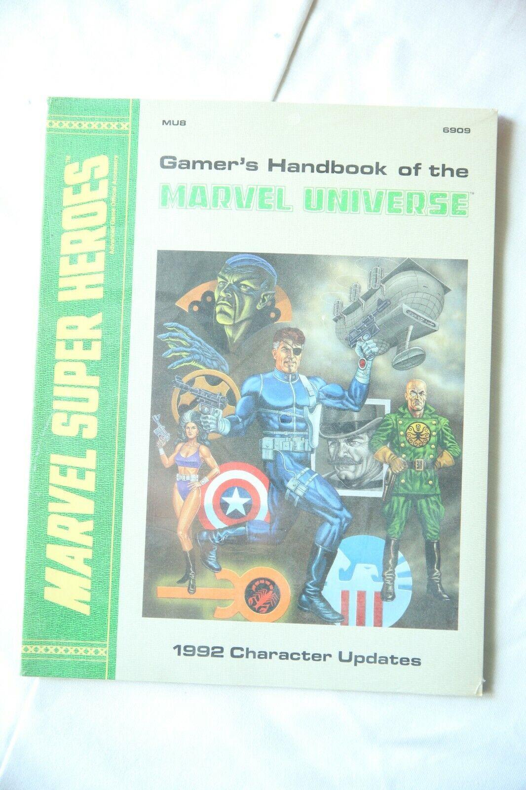 Gamer's Handbook of the Marvel Universe 1992 Character Updates TSR MU8 6909 NEW