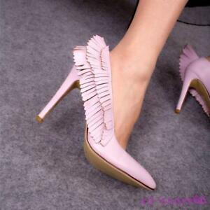pump womens wings stilettos high heels shoes pionty toe
