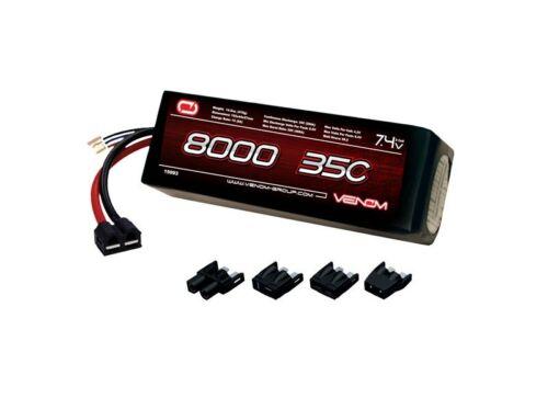 Venom 35C 2S 8000mAh 7.4V LiPo with UNI 1.0 Plug