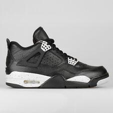 c66ef8f8d77615 Nike Air Jordan 4 IV Retro LS Black Oreo Tech Grey Leather DS 314254 ...