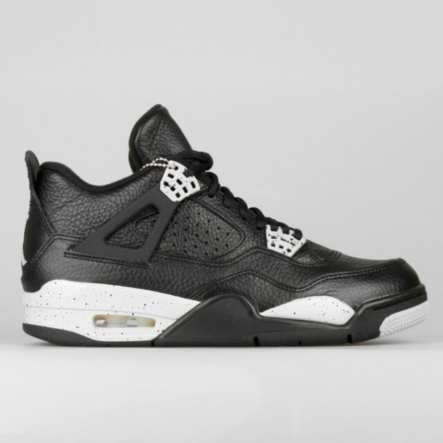 3e884577c8cfde Nike Air Jordan 4 IV Retro LS Oreo Black Grey Mens Basketball Shoes ...