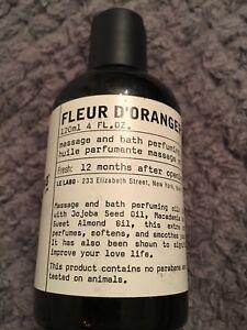 Rare New Le Labo Fleur D Oranger 27 Massage And Body Bath Oil 120