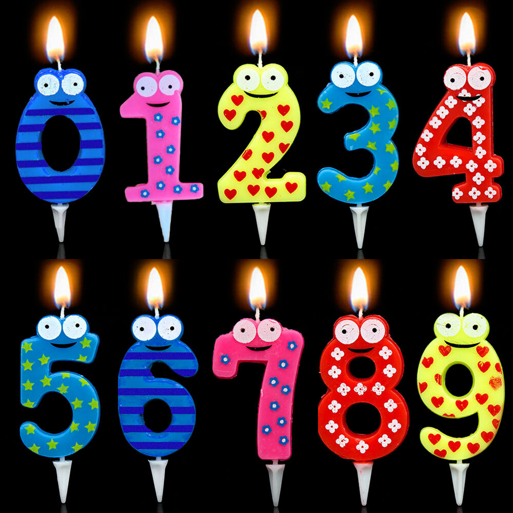 Number Candle Cake Candles Anniversary Ages Party Kids